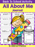 """Back to School - """"All About Me"""" Journal"""