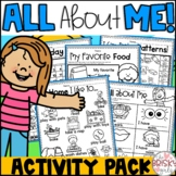 All About Me (Beginning of the Year) Activities