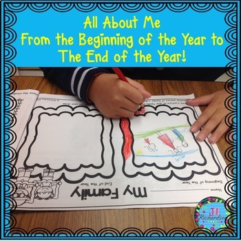 All About Me!  Beginning of the Year to the End! Great for First Day of School!
