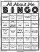 All About Me Bingo