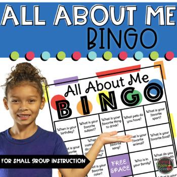 All About Me Activities- Bingo
