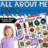 All About Me Activities- BINGO Picture Edition