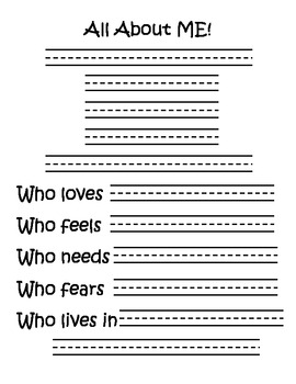 All About Me Biography Poem Printable
