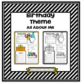 All About Me Birthday Theme