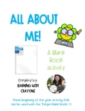 All About Me, Blank Book Activity