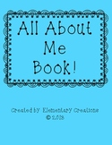All About Me Book!!