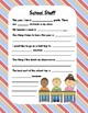 Back to School - All About Me Book