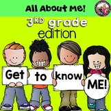 All About Me Book! 3rd Grade Edition! Data Collection too!