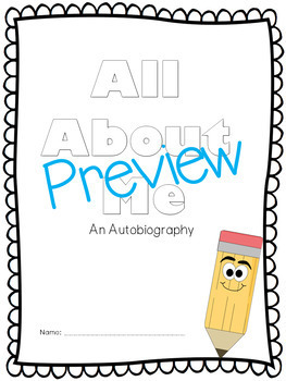 All About Me Book, Autobiography, Personal Narrative