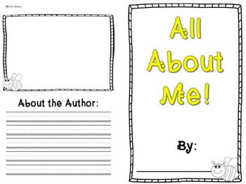 All About Me Book- BEE themed