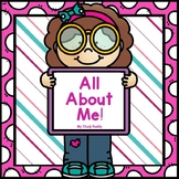 All About Me Book (All About Me Activities, All About Me Printable)