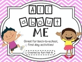 All About Me Book-- Back-to-School! Great first day activity