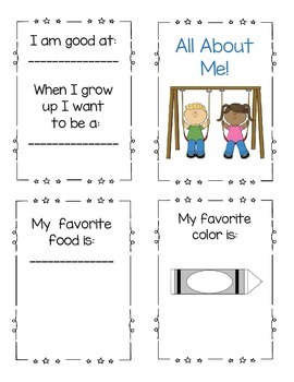 All About Me Book Booklet