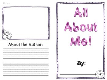 All About Me Book- CIRCUS themed!