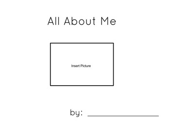 All About Me Book Cover