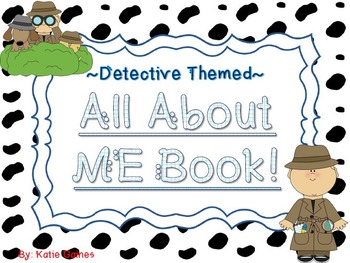 All About Me Book- DETECTIVE themed