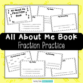 All About Me Fraction Book - Practice Fractions of a Set