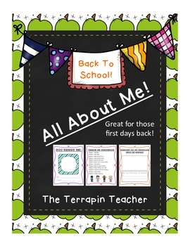 All About Me! Book-Great for Back To School!