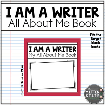 All About Me Book: I Am A Writer