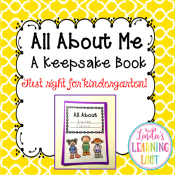 All About Me Book Just Right For Kindergarten