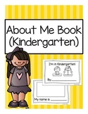 All About Me Book (Kindergarten)