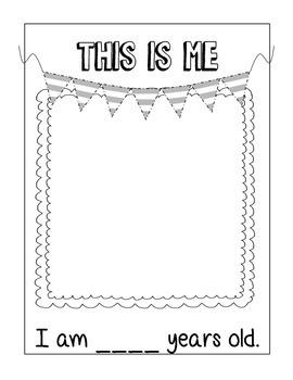 All About Me Book - Kindergarten First Grade Writing