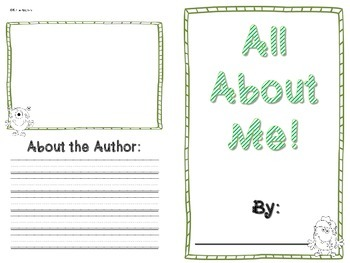 All About Me Book- MONSTER themed!