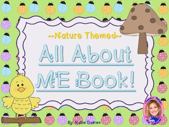 All About Me Book- NATURE themed