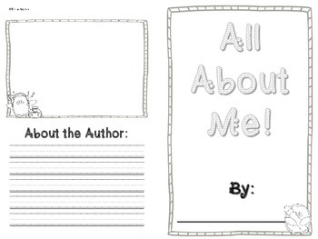All About Me Book- PENGUIN themed!