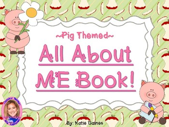 All About Me Book- PIG themed