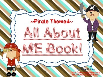 All About Me Book- PIRATE themed!