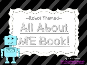 All About Me Book- ROBOT themed!