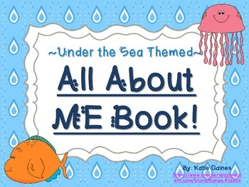 All About Me Book- SEA LIFE themed!