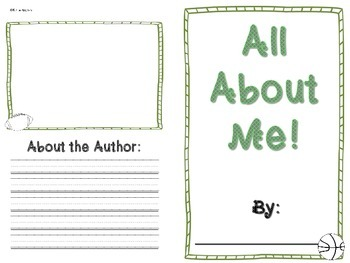 All About Me Book- SPORTS themed!