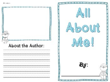 All About Me Book- SUPERHERO themed
