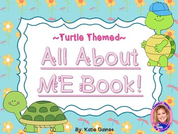 All About Me Book- TURTLE themed