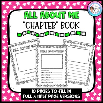 All About Me Book Template by Miss Zees Activities | TpT