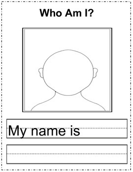 All About Me Book Template-working on using Non-fiction features