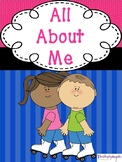 All About Me Book Writing