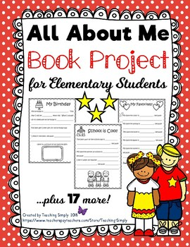 All About Me Book and Writing Project