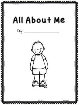 All About Me Book- boy and girl cover page versions