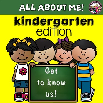 All About Me!  Book for Kinders!  Get-To-Know-Me!