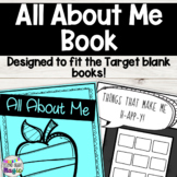 All About Me Book for Target Blank Books! Great for Back t