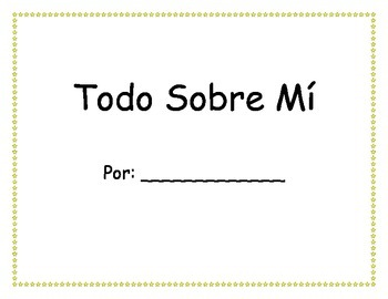 All About Me Book in Spanish