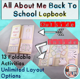 UNPLUGGED All About Me Book with Technology Theme