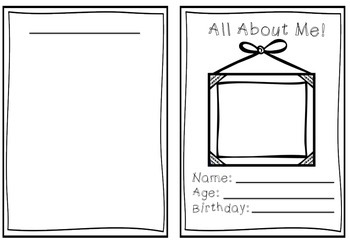 Beginning of the year - All About Me Booklet