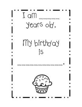 All About Me Kindergarten Booklet