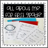 All About Me First Grade Booklet