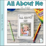 All About Me Booklet- Digital Version Included