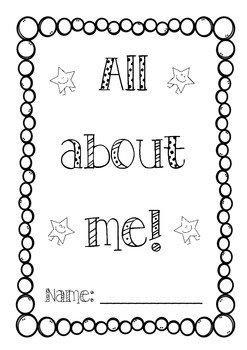 All About Me Booklet AMERICAN